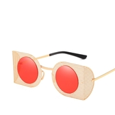 個性太陽眼鏡 炫彩不規則金屬太陽鏡鏤空墨鏡【五巷六號】y159