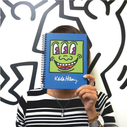 【買一送一】《凱斯哈林特展》三眼怪環裝筆記本(加贈展覽限定L夾)