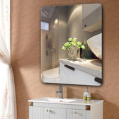 浴室鏡無框 70*90圓角 洗手間衛浴鏡衛生間鏡橢圓壁挂鏡子化妝鏡歐式 新年特惠