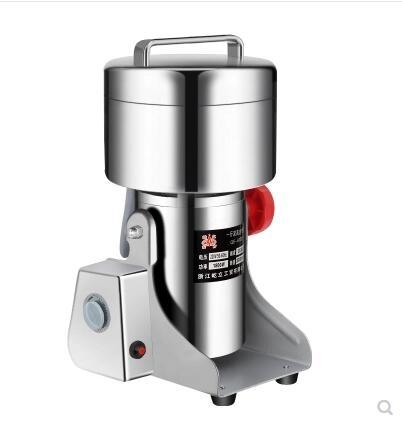 屹立500克粉碎機打粉機磨粉機研磨機加厚不銹鋼全銅電動超細電動110V
