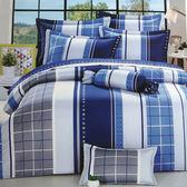 【免運】精梳棉 雙人加大 薄床包被套組 台灣精製 ~摩登線條~