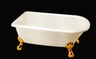 【麗室衛浴】國產 B1 金腳 高亮度雙層壓克力 加厚 古典貴妃缸 120CM、140CM、150CM