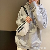 ins百搭帆布腰包女2019新款韓版學生森系少女斜挎胸包-享家生活館