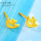 Justin金緻品 黃金耳環 悠游海洋 金飾 9999純金耳環 熱帶魚 夏天 小魚造型
