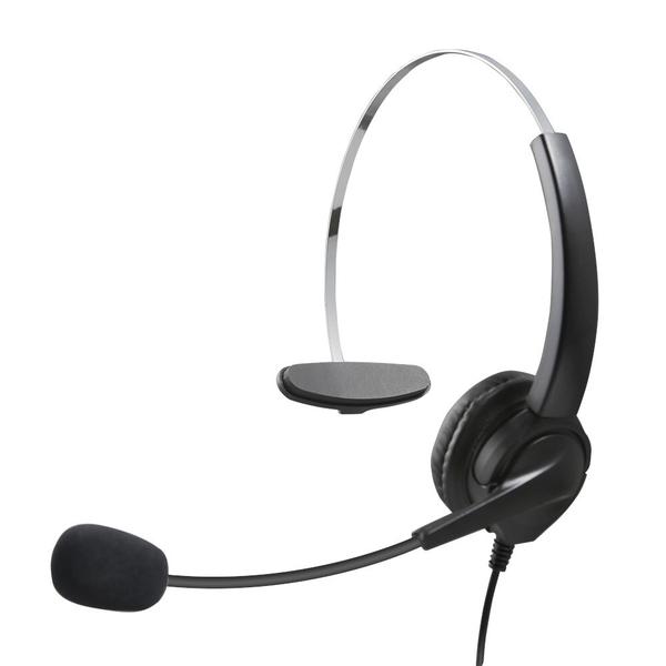 單耳電話耳機麥克風含靜音調音鍵 890元 安立達電話耳機 CID70 DKP51W KP70 HEADSET PHONE 保固6個月