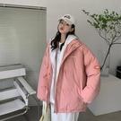 外套 棉外套 羽絨服 長袖上衣學生韓版寬松面包服女衛衣帽拼接港風短款外套MA124 胖丫