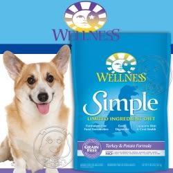 【培菓平價寵物網】Wellness寵物健康》Simple單一蛋白成犬無穀火雞馬鈴薯食譜狗糧-4磅/包