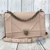 BRAND楓月 Christian Dior 迪奧 淺粉色 DIORAMA WOC 側背包 肩背包 鍊包