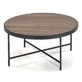 aaronation -復古工業風木紋咖啡桌82*82*40