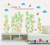 壁貼【橘果設計】花草 DIY組合壁貼 牆貼 壁紙室內設計 裝潢 壁貼
