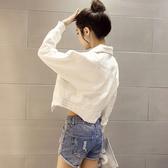 春秋韓版牛仔外套女新款女裝短款寬鬆薄款長袖夾克春季上衣潮   極有家