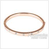 kate spade經典簡約設計鑽鑲飾扣式手環(玫瑰金)