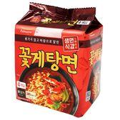 韓國 PULMUONE 非油炸拉麵 花蟹海鮮湯麵 5入/袋 515g E30