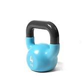 Reebok-專業訓練鑄鐵包膠壺鈴(4kg)(淡藍)
