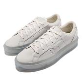 【海外限定】adidas 休閒鞋 Sleek Super W AC 米白 女鞋 厚底 增高 愛迪達 三葉草【ACS】 FX1938