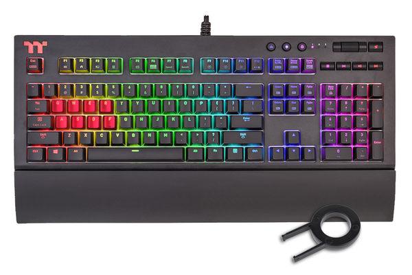 [哈GAME族]免運費●附贈紅色鍵帽+拔鍵器●曜越 Premium X1 RGB Cherry MX 青軸 機械式電競鍵盤 12種背光