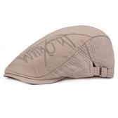鴨舌帽-純色棉質刺繡休閒男女貝雷帽5色73tv188【時尚巴黎】