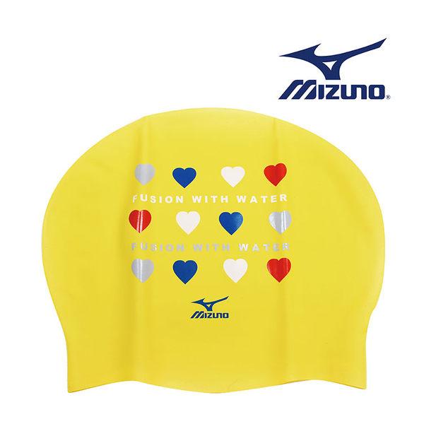 ≡ MIZUNO ≡ MIZUNO 矽膠泳帽 85BB-86445 《 愛心排排站 》