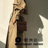手提包/韓國鱷魚紋斜挎單肩方包手提百搭氣質包復古女包「歐洲站」