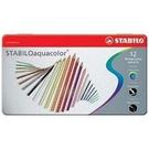 STABILO aquacolor 水溶性12色鐵盒色鉛筆*1612-5