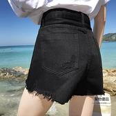 牛仔短褲女夏季a字寬鬆熱褲【聚物優品】