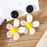 耳環 糖果色 花朵 吊墜 甜美 小花 簡約 氣質 耳釘 耳環【DD1905049】 icoca  7/18