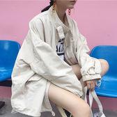 工裝外套女2018秋季新款韓版寬鬆bf學生立領純色ulzzang短款風衣