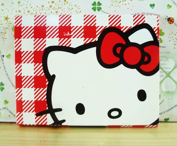【震撼精品百貨】Hello Kitty 凱蒂貓-KITTY吸油面紙-紅白格圖案
