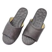 經典減壓乳膠皮拖鞋-灰L
