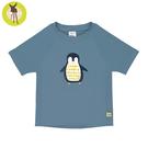 德國LASSIG-嬰幼兒抗UV短袖泳裝上衣-藍企鵝