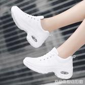 白色回力女鞋運動鞋女秋季網面透氣學生休閒鞋氣墊旅游鞋跑步鞋女 居家物語