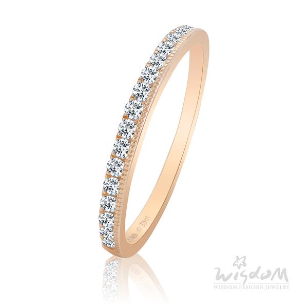 威世登 純真歲月 玫瑰金鑽石戒指 婚戒推薦 情人節禮物 DA02840M1-BDEXX