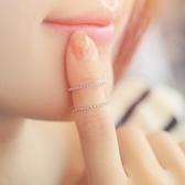 戒指 925純銀 鑲鑽-經典簡約生日情人節禮物女開口戒3色73dv6[時尚巴黎]