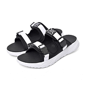 KANGOL 男女款黑白色涼拖鞋-NO.6055220123