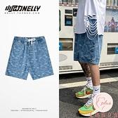 夏季薄款五分牛仔短褲男大碼寬松直筒5分褲【大碼百分百】