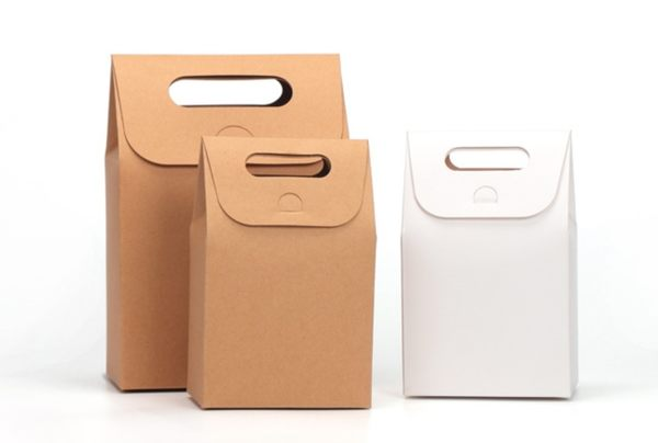 牛皮大盒子 手提牛皮紙盒曲奇餅乾袋【C097】蛋糕盒西點心食品包裝袋子糖果紙袋禮盒