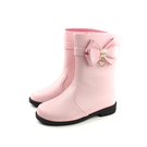 靴子 中筒靴 蝴蝶結 粉紅色 童鞋 no160