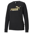 Puma Ess 女款 黑色 長袖 圓領...