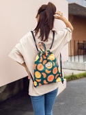 抽繩後背包女韓版上班小背包男大學生書包束口袋ins上課包手提包 韓國時尚週
