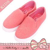 HELLO KITTY X Ann'S親子系列花園牛仔布懶人鞋童鞋-粉