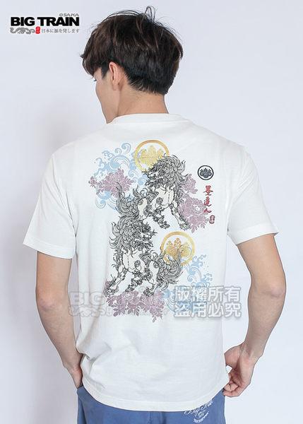 BIG TRAIN 堂獅牡丹V領T-男