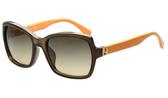 FENDI -時尚太陽眼鏡 (茶色+黃色)