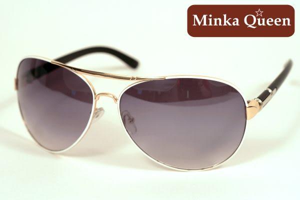 Minka Queen 亮眼吸睛白色金屬框(抗UV400)時尚個性雷朋太陽眼鏡