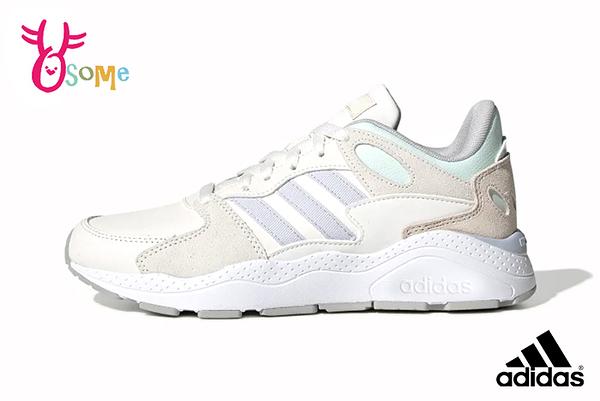 adidas CHAOS 成人女款 迪麗熱巴同款 復古老爹鞋 慢跑鞋 運動鞋 Q9364#米綠◆OSOME奧森鞋業
