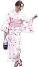 Nishiki【日本代購】和式浴衣+束腰帶2件套 女士成人用 - 萩