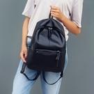 韓版雙肩包時尚潮流背包PU皮質學生大學生書包女旅行包休閑