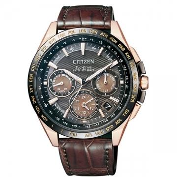 【南紡購物中心】【CITIZEN 星辰】限量款紳士品味GPS衛星對時皮帶腕錶(CC9016-01E)