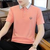 男士短袖t恤夏季新款韓版潮流polo衫上衣服寬鬆潮牌半袖體恤 奇思妙想屋