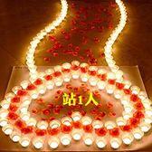 蠟燭生日蠟燭玫瑰套餐蠟燭創意浪漫求愛布置錶白愛心求婚道具浪漫蠟燭 免運快速出貨
