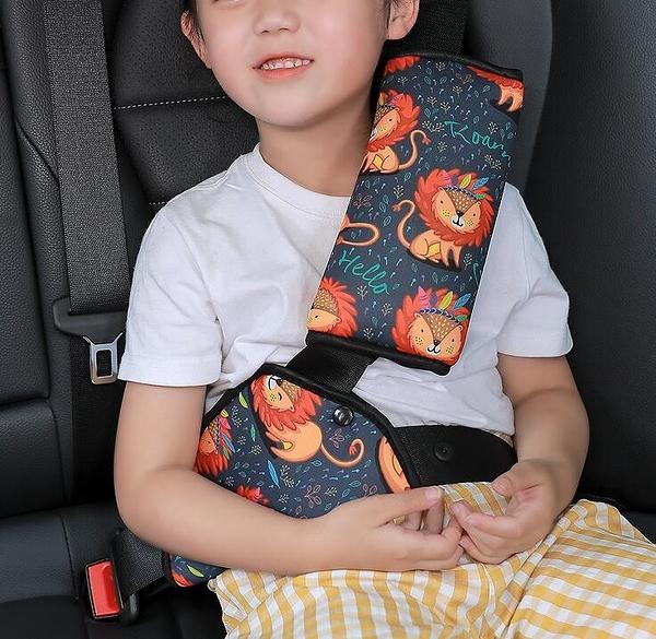 汽車護肩 兒童安全帶調節固定器防勒脖汽車用座椅專用保險帶護肩套【快速出貨八折搶購】